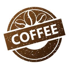 """""""coffee"""" stempel wektor"""
