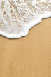 canvas print picture - wave sand