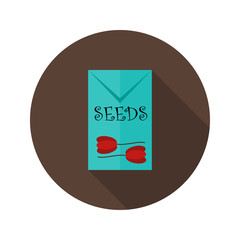Pack with Tulip Seeds flat icon