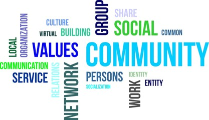 word cloud - community