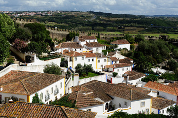 famous town Obidos, Portugal