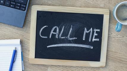 Call me written