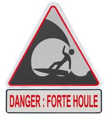 danger forte houle, pratique du surf déconseillée