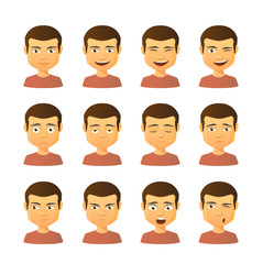 Male avatar expression set
