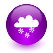 Leinwandbild Motiv snowing internet icon
