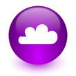 Leinwandbild Motiv cloud internet icon