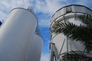 outdoor design tank in factory