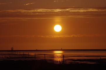 Sonnenuntergang Nordsee 4