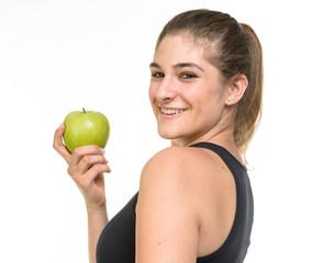 Ragazza con mela
