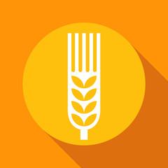 Wheat ear sign onyellow background