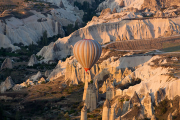 Cappadocia, Turkey,  the flight with the balloon at sunrise