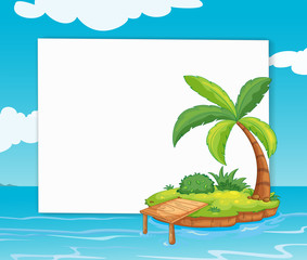 Banner with island