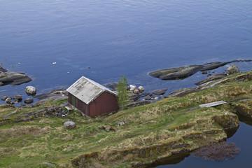 Bootshütte von oben