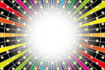 背景素材壁紙(虹色放射のワープ風壁紙)