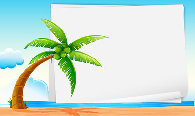 Banner with beach