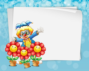 Banner and clown