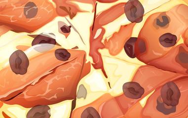 Close-up pizza