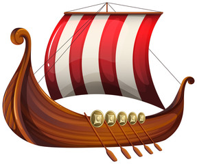 A viking's ship