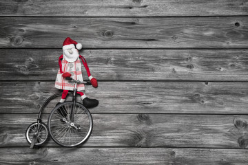 Weihnachtskarte oder Hintergrund weihnachtlich mit Santa