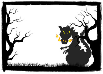 Drache im Wald