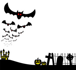 Fledermäuse an Halloween