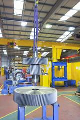 Gear wheels in factory