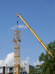 fitting up of high crane