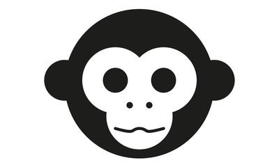 Affe Kopf Frontal