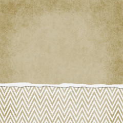 Square Beige and White Zigzag Chevron Torn Grunge Textured Backg