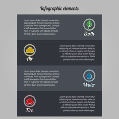 Dark elements of infographics on environmental issues