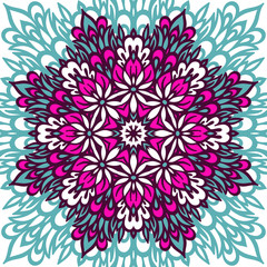 Flower Mandala. Abstract background.