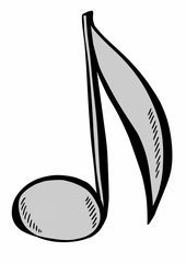 doodle music note