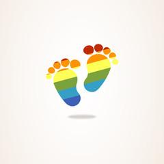 logo business tree baby rainbow traces