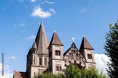 canvas print picture Kirche -Herz Jesus in Saarbrücken