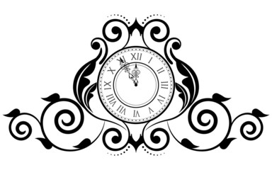Vector illustration of vintage clock