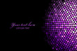 Vector background with purple disco lights