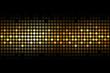 Vector gold lights on black background