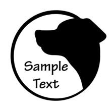 Ilustracji wektorowych z ikoną psa