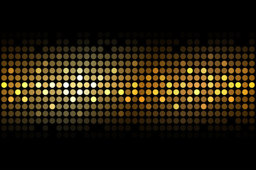 Vector gold lights on black background