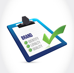 brand selection on a clipboard illustration design