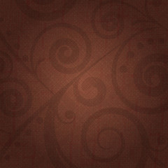 Vector brown background with floral decoration