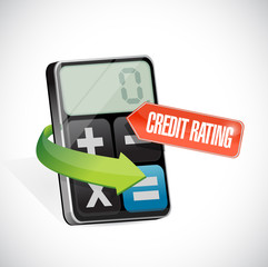 credit rating message illustration design