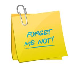 forget me not memo message illustration
