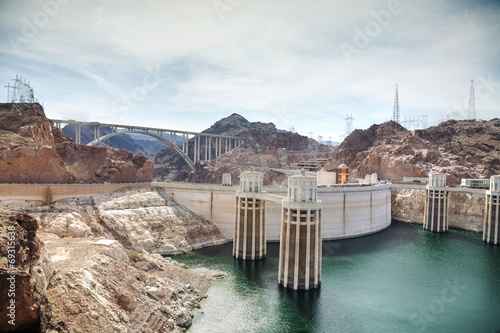 Foto op Canvas Kanaal Aerial view of Hoover dam