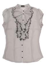 chiffon blouse with jabot