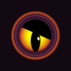Happy Halloween Ghost Evil Eye Icon Background