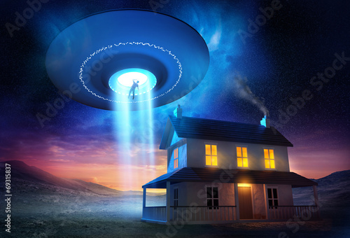 Foto op Canvas UFO From Outer Space