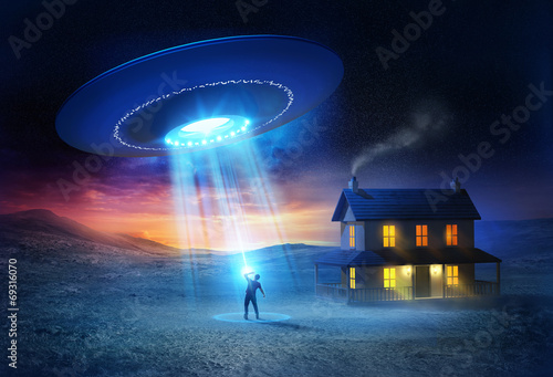 Fotobehang UFO UFO Abduction