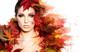 Leinwanddruck Bild - Autumn Woman portrait with creative makeup