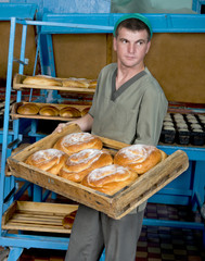 Baking  bread  in  a  small  village